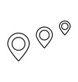 location way black icon vector image vector image