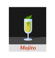 mojito cocktail menu item or any kind of design vector image vector image