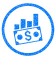 money charts rounded grainy icon vector image vector image