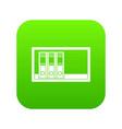 office folders on the shelf icon digital green vector image vector image