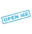 Open Me Rubber Stamp vector image vector image