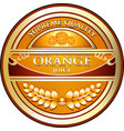 orange juice label vector image vector image