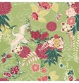 Oriental silk pattern vector image