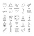 outline icon set vector image