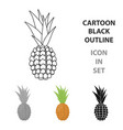 pineapple icon cartoon singe fruit icon vector image vector image