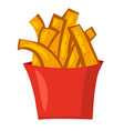 potato french fries vector image