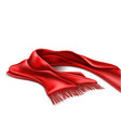 realistic knitted warm scarf chirstmas sign vector image