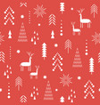 red seamless christmas pattern vector image