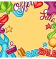 Sale background with female clothing and vector image vector image