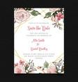 Save date floral wedding invitation