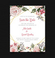 save the date floral wedding invitation vector image