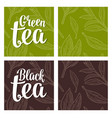 seamless pattern tea with branch and leaf vector image vector image