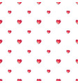 seamless pattern with 3d hearts vector image vector image