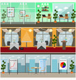 set of business interior posters banners vector image vector image