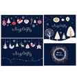 set of christmas banners and cards vector image vector image