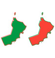 simplified map of oman outline fill and stroke vector image vector image