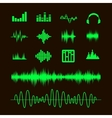 sound waveforms waves and musical pulse vector image