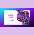 space neon landing page vector image