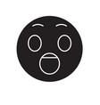 surprised emoji black concept icon vector image vector image