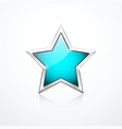 turquoise star icon vector image vector image