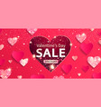 valentines day sale banner with glitters and vector image vector image