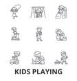 kids playing children playing kids playing vector image