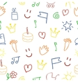 baby pattern with pictures vector image