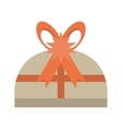 gift box red star bow surprise vector image