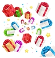 Present Boxes Background Holiday Birthday vector image