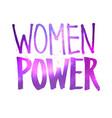 women power lettering vector image