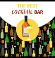 cognac and cocktail icon bar banner vector image