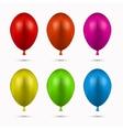 modern balloons set on white vector image