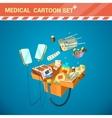 Hospital Equipment Cartoon Set vector image
