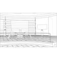 3d outline interior rendering 3d vector image vector image