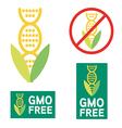 4516GMO GMO free icon symbol desig vector image vector image