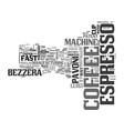 a brief history of espresso text word cloud vector image vector image