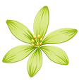 A green flower vector image vector image