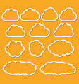 abstract paper clouds set for messages vector image vector image