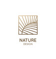 abstract tropic plant minimal logo