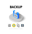 Backup icon in different style vector image vector image