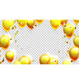 balloons and confetti decoration banner vector image vector image