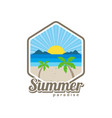 beach time tropical island summer vacation vector image vector image