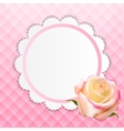 Beautiful Floral Cards with Realistic Rose vector image