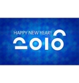 Blue 2016 New Year Banner vector image vector image