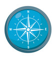 blue compass icon vector image vector image
