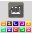 Book sign icon Open book symbol Set of colored vector image