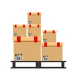 boxes pile warehouse service vector image vector image