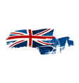 british waving flag vector image vector image