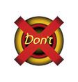 button retro ui - dont push stop button key old vector image vector image