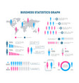 cartoon business statistics graph infographic card vector image vector image